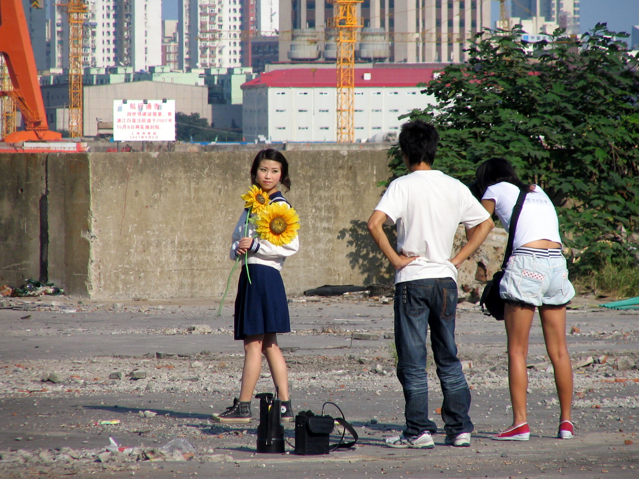 Shanghai vacant lot   Photo by David Perry